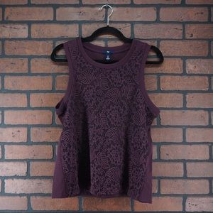 GAP FACTORY Sleeveless Embroidered Lace Tank New S